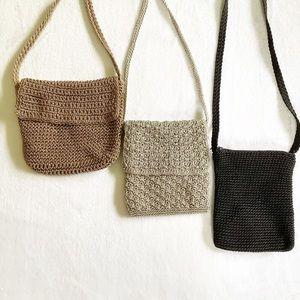 Set Of 3 Crochet Crossbody Bags